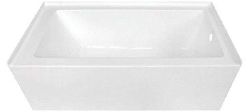 Kingston Brass VTDE603122 Alcove Acrylic Bathtub
