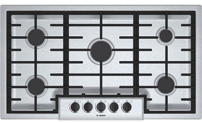 Bosch NGM5655UC 36-Inch Stainless Steel Sealed Gas Cooktop