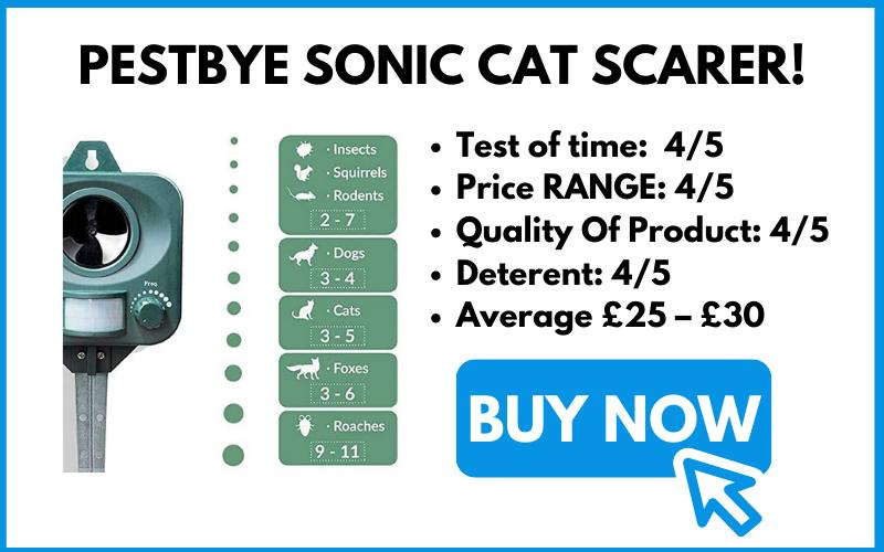 BUY PESTBYE CAT SCARER SONIC DEVICE!