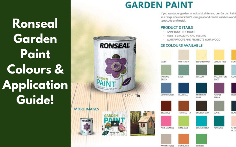 Ronseal Garden Paint Colours & Application Guide!