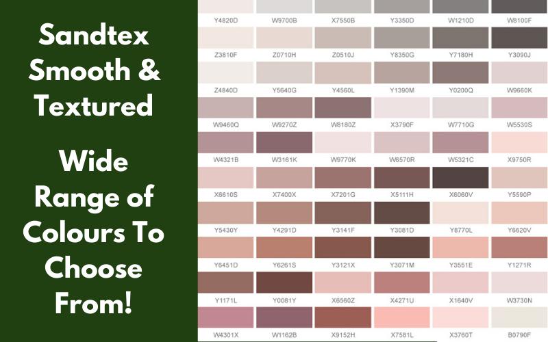 Sandtex range of colours!