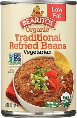 Bearitos Organic Low Fat Traditional Refried Beans