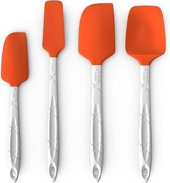M Kitchen World Heat Resistant Silicone Spatulas Set