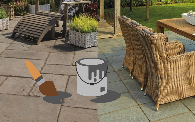 Painting your patio slabs