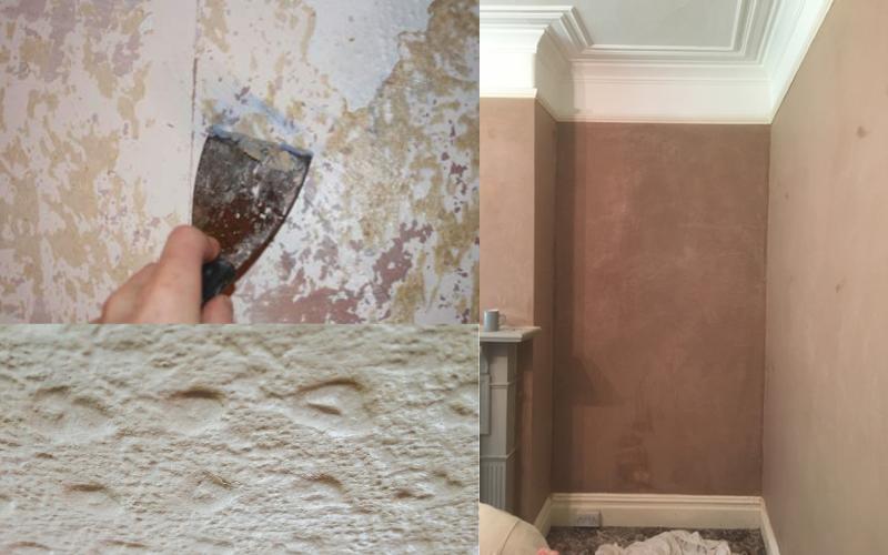 Remove wallpaper before plastering