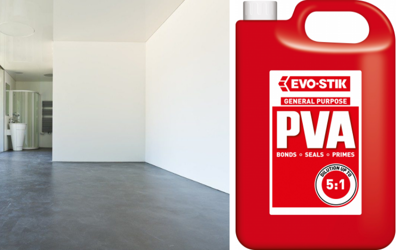 Sealing concrete floors with PVA