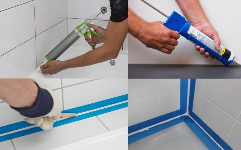 Sealing your bath with silicone