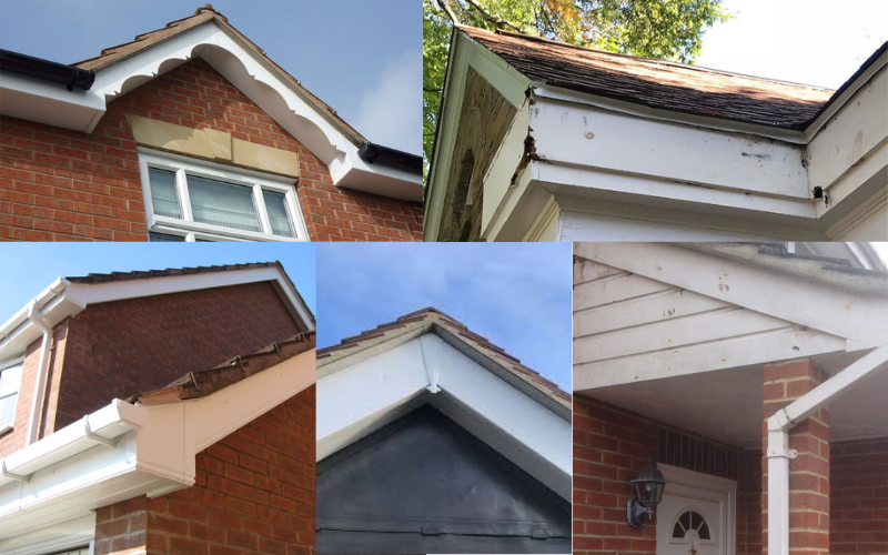 Start with the fascia and soffit boards