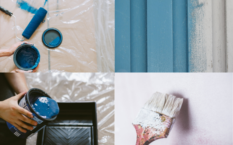 Steps to painting a room