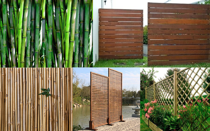 Wooden and Bamboo Screens