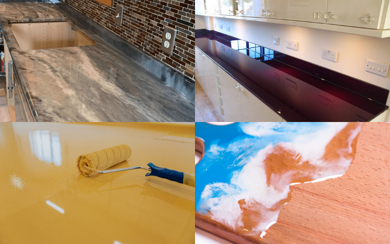 Epoxy Kitchen Worktops - Example