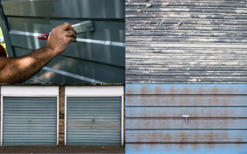 Garage Door Painting - Example