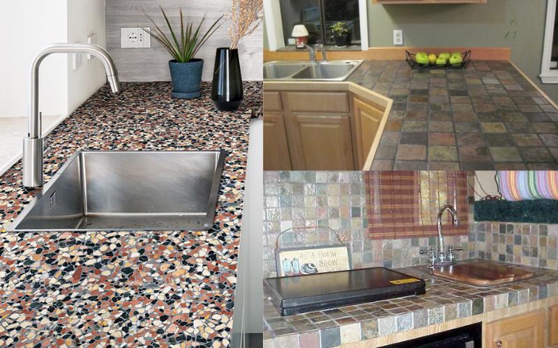 Tile Kitchen Worktops - Example
