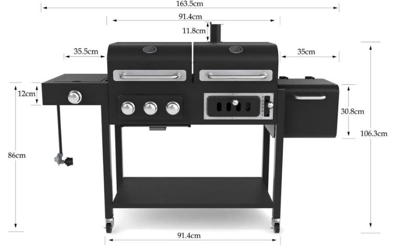CosmoGrill BBQ Sizing