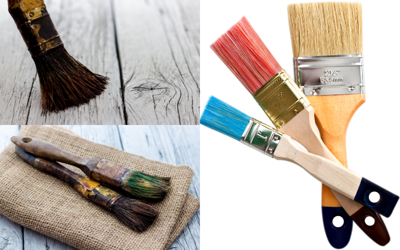 Cleaning Paintbrushes - Examples