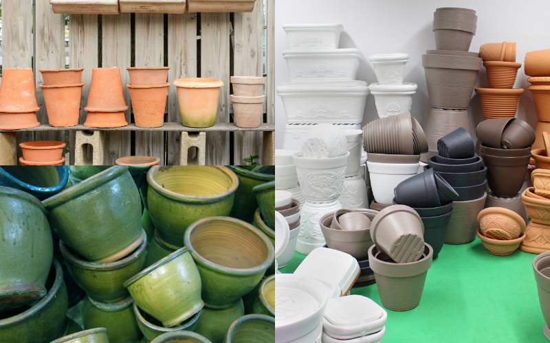 A Variety Of Plant Pots