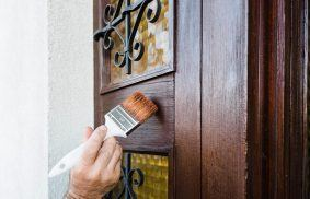 How to Paint a Door Without Brush Marks