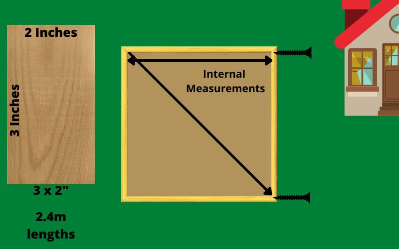 Wooden Frame For A Concrete Base